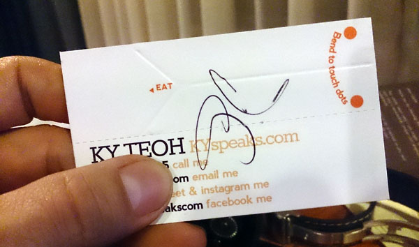my name card, signed by Gordon Ramsay!