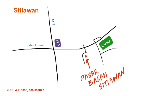 direction to Sitiawan wet market