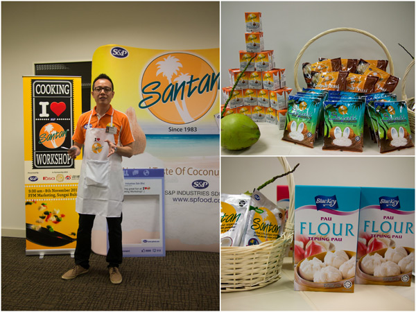 S&P Santan and other products at the cooking workshop