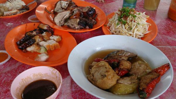 roast duck, roast pork, chasiu, yong tau foo