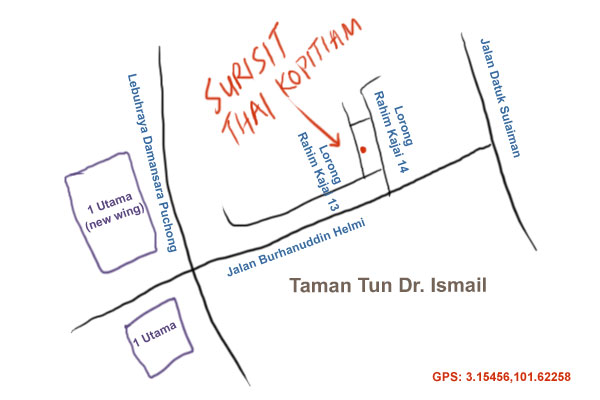 map to Surisit Thai Kopitiam at Taman Tun