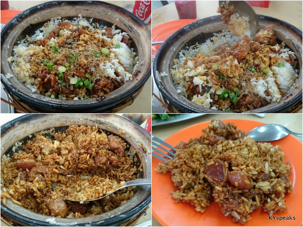 claypot chicken rice cooked from scratch