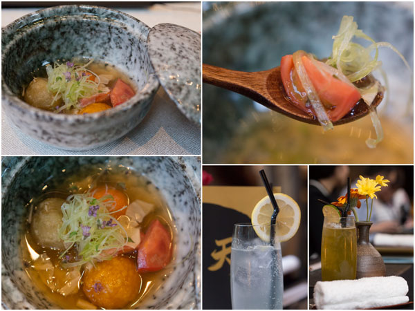 unique Japanese Dango, cocktails
