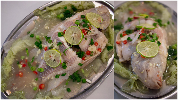 Pla Neung Ma Naw, Thai steamed fish