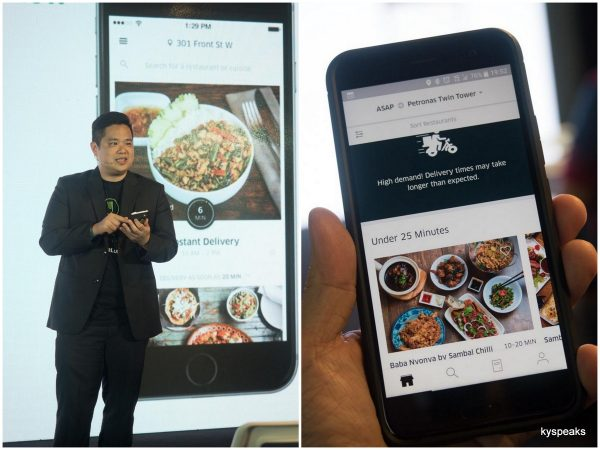 UberEATS now in KL