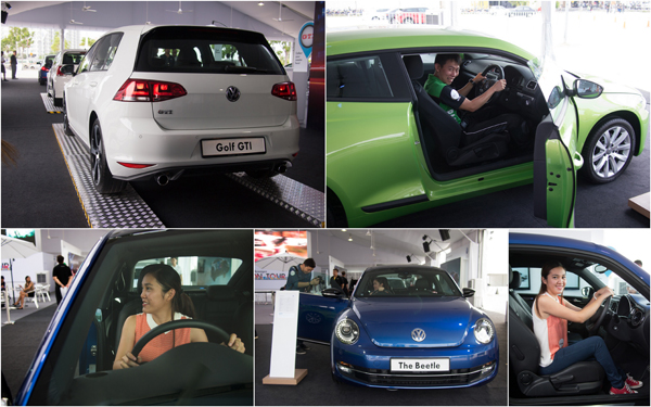 Golf GTI, Scirocco (I like!), and the ladys' favourite - Beetle