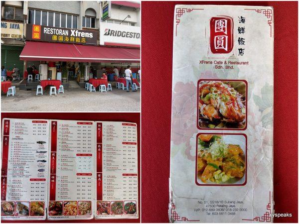 Restaurant Xfrens, Subang Jaya SS18