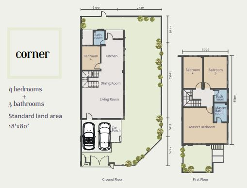 Acacia Park - corner unit floor plan