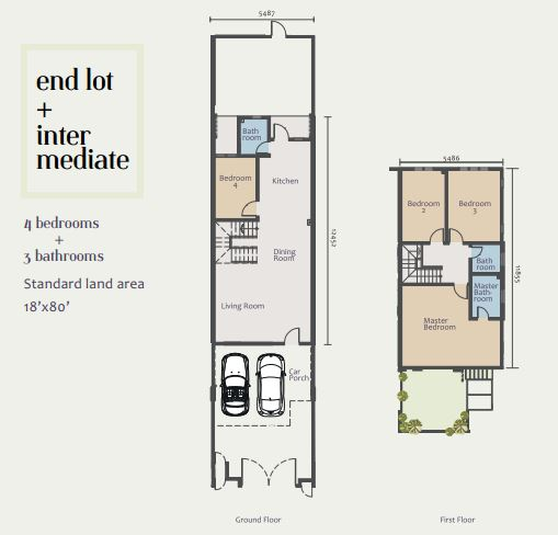 Acacia Park intermediate unit floor plan