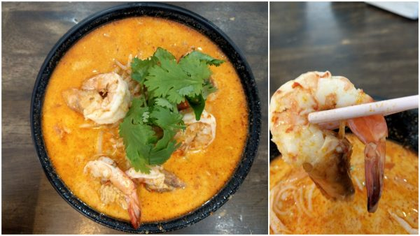 Ah Chee Tom Yam - meehun with fresh prawns