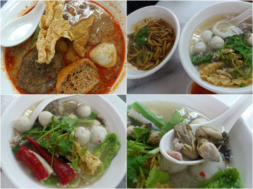 curry mee, dried noodle, soup noodle, and oyster