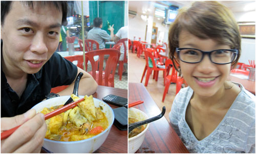 KY and Haze at Ah Loy curry mee