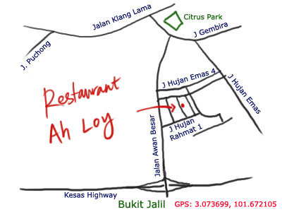 map to Ah Loy Curry Mee at OUG