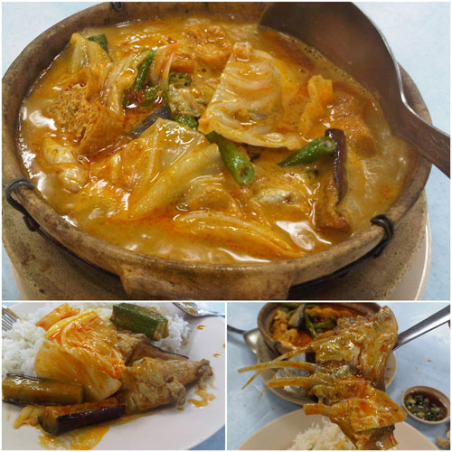 super spicy curry fish head (lemak)