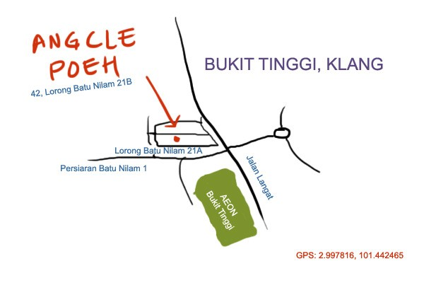 map to Angcle Peoh, Bukit Tinggi