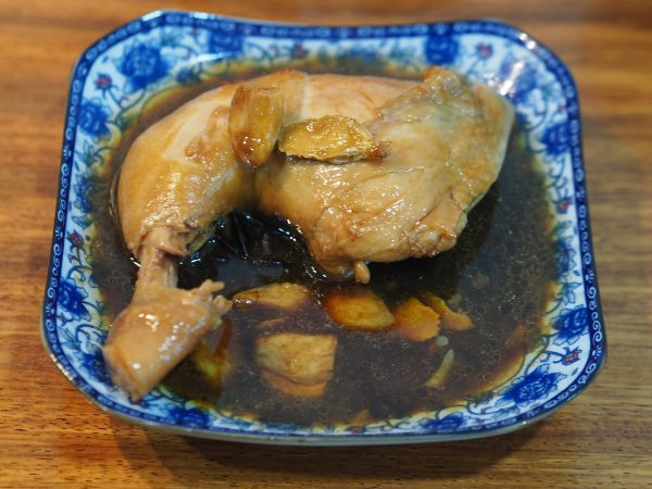 soya sauce chicken, this goes well with a bowl of porridge