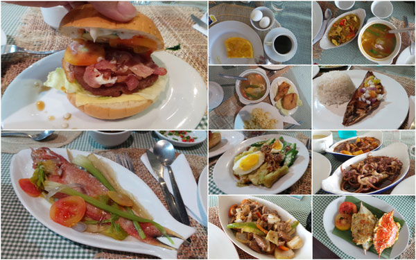 some of the food we had, plenty of choices to last a week