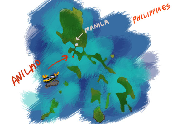 map of Anilao, the Philippines