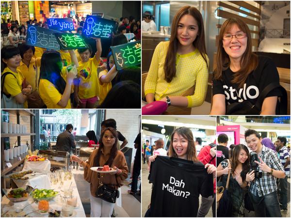 Jie Ying's fans, chuckei, Azaria, Redmummy, Rachel, Tian Chad