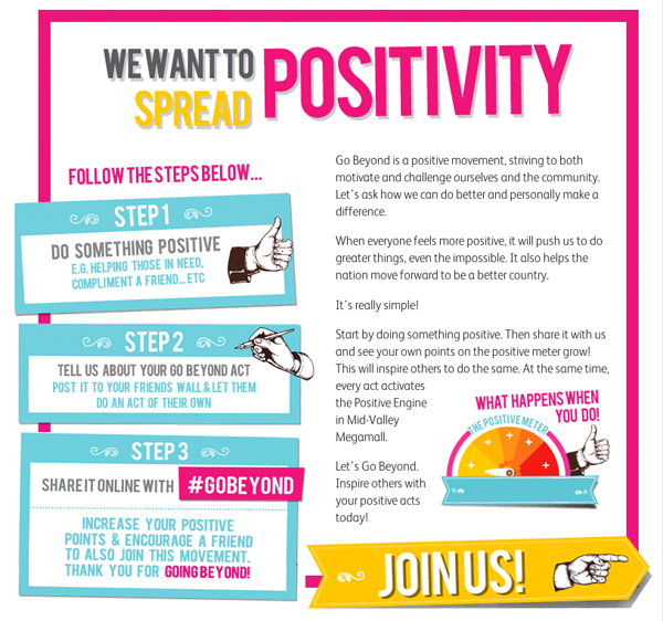 spread positivity and share it with #GoBeyond