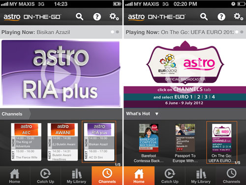 Astro On-The-Go iPhone app screenshots
