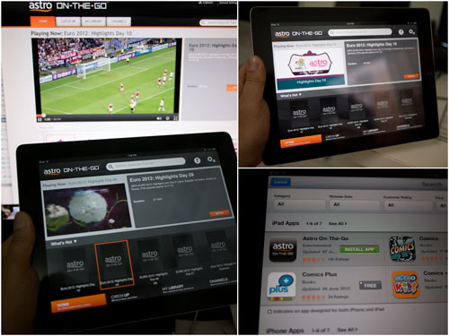 Astro On The Go on iPad and web browser