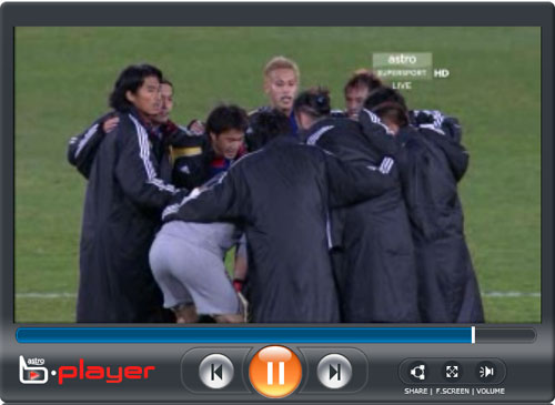 Japan vs Paraguay on Astro B.player