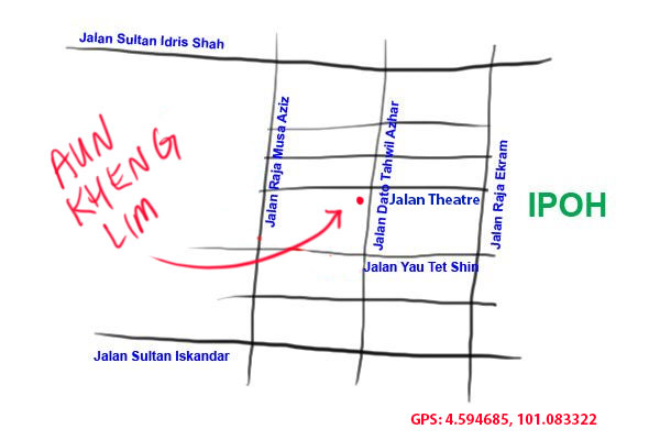 map to Aun Kheng Lim salt baked chicken in Ipoh