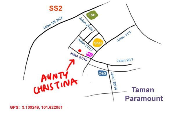 map to aunty christina laksa