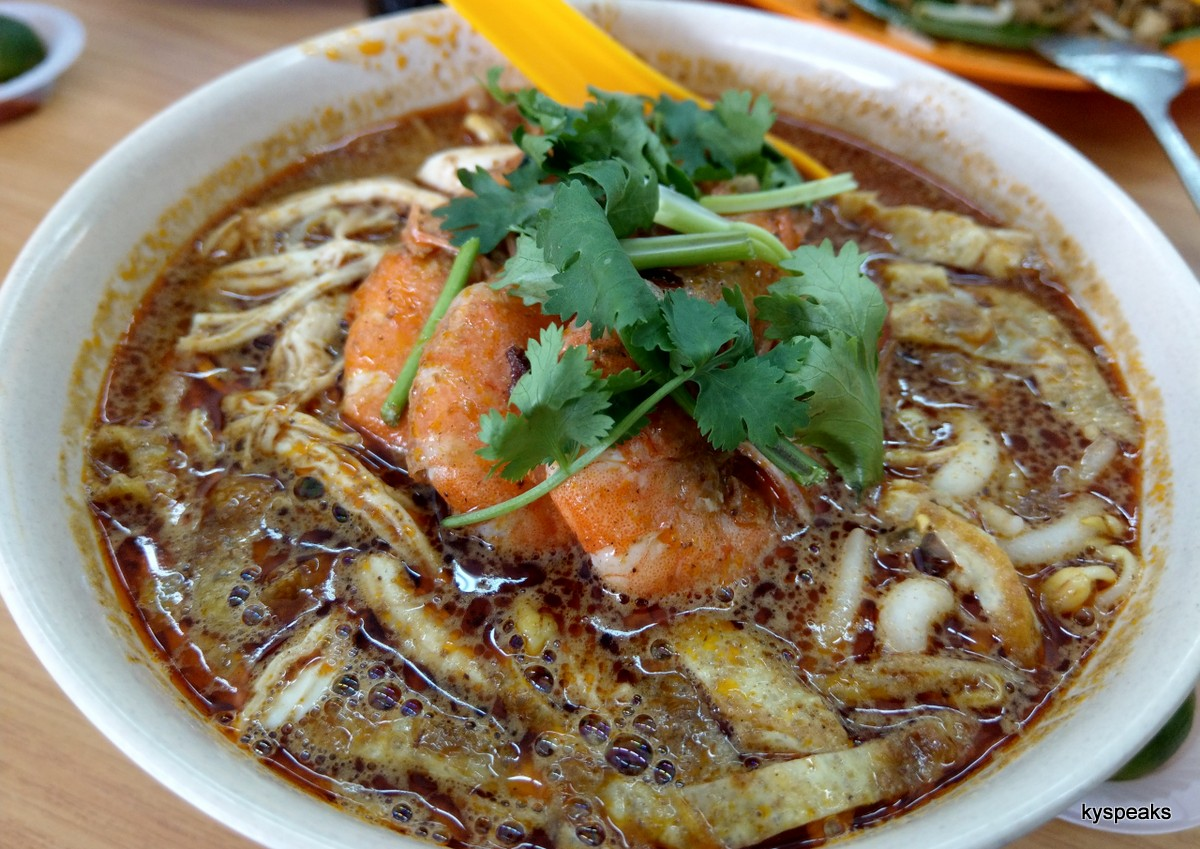 Aunty Lan's sarawak laksa, now at Tin Ha kopitiam