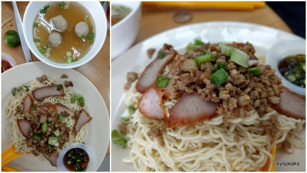 Sarawak kolo mee is pretty good too
