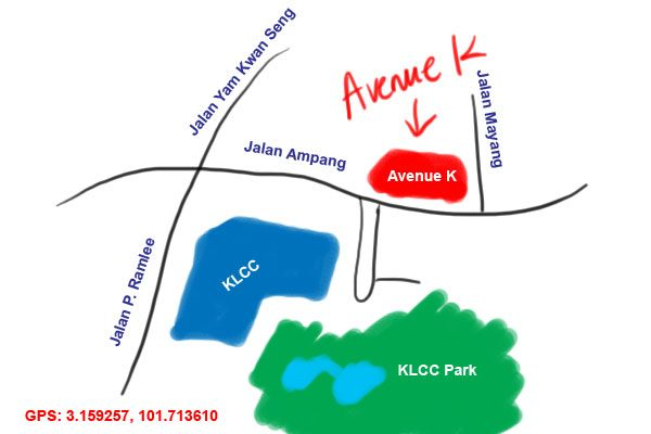 map to Avenue K