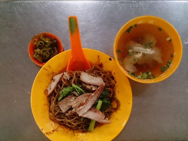 only RM 4 for this delicious plate of wantan mee