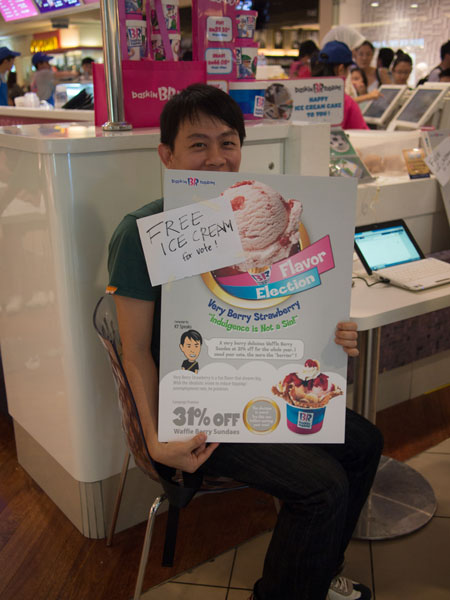 here's me with my poster - free ice cream guys!