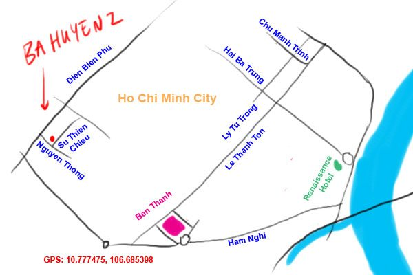 map to ba huyen 2, ho chi minh city