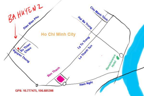 map to ba huyen 2, ho chi minh city