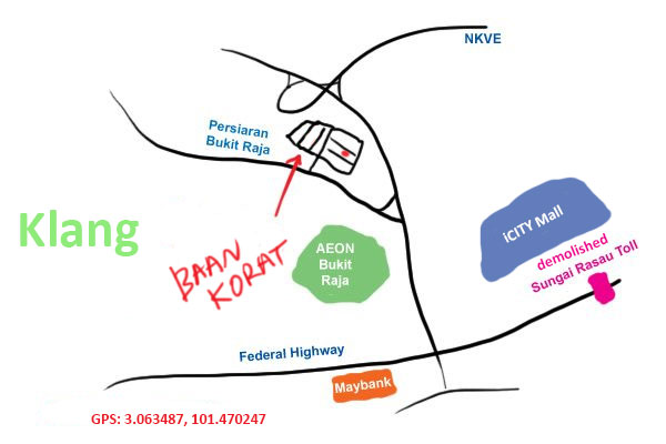 map to Baan Korat restaurant