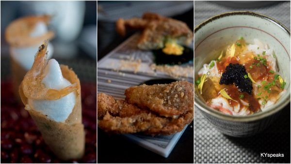 Prawn and Curry Leaf Ice Cream, Manga Crab, Snow Crab Donburi with Sambal
