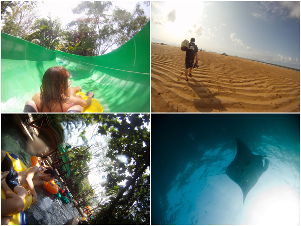 getting wet at waterbom, and marvelling the mantas at Nusa Penida