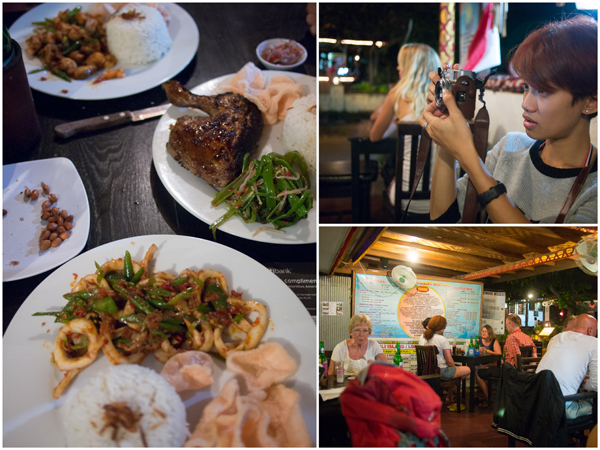 our dinner at Warung Ayu, Lovina, it was lovely