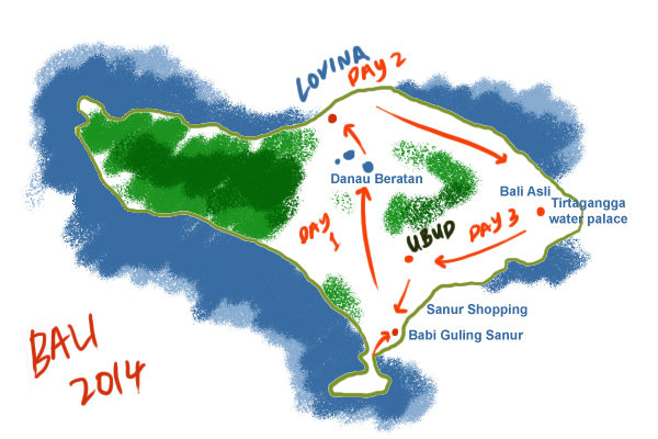 bali itinerary 2014