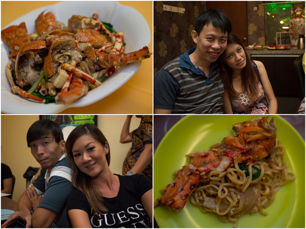 KY & Haze, Josen & Mei, sweet and sour lobster (not part of the set)