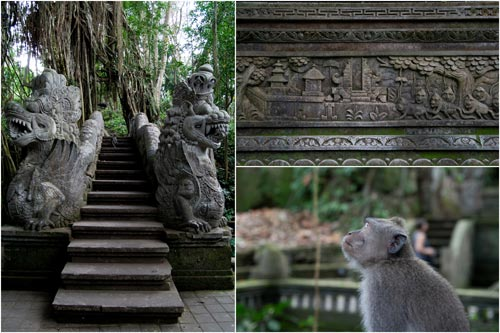 monkey forest at Ubud, the prime tourist attraction