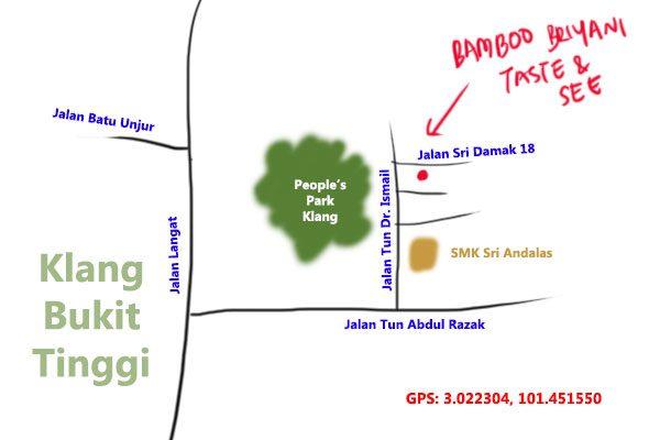 Bamboo Briyani Taste & See map