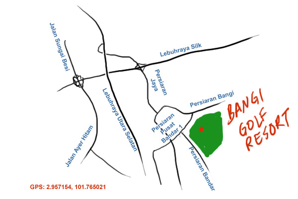 direction to Bangi Golf Resort
