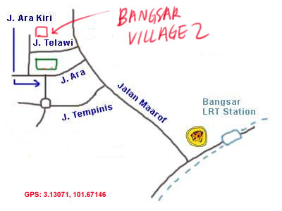 map to Bangsar Village 2