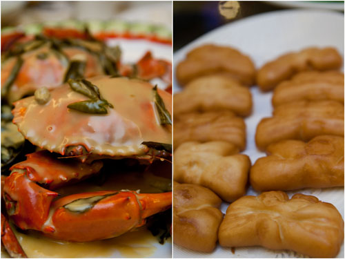 butter crab and deep fried mantao