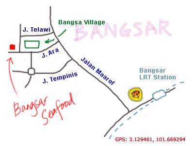 map to Bangsar Seafood