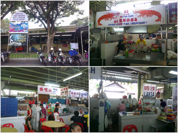 batu lanchang food court, just right next to the wet market