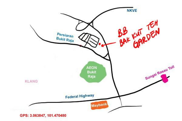 map to bb bak kut teh bandar baru klang